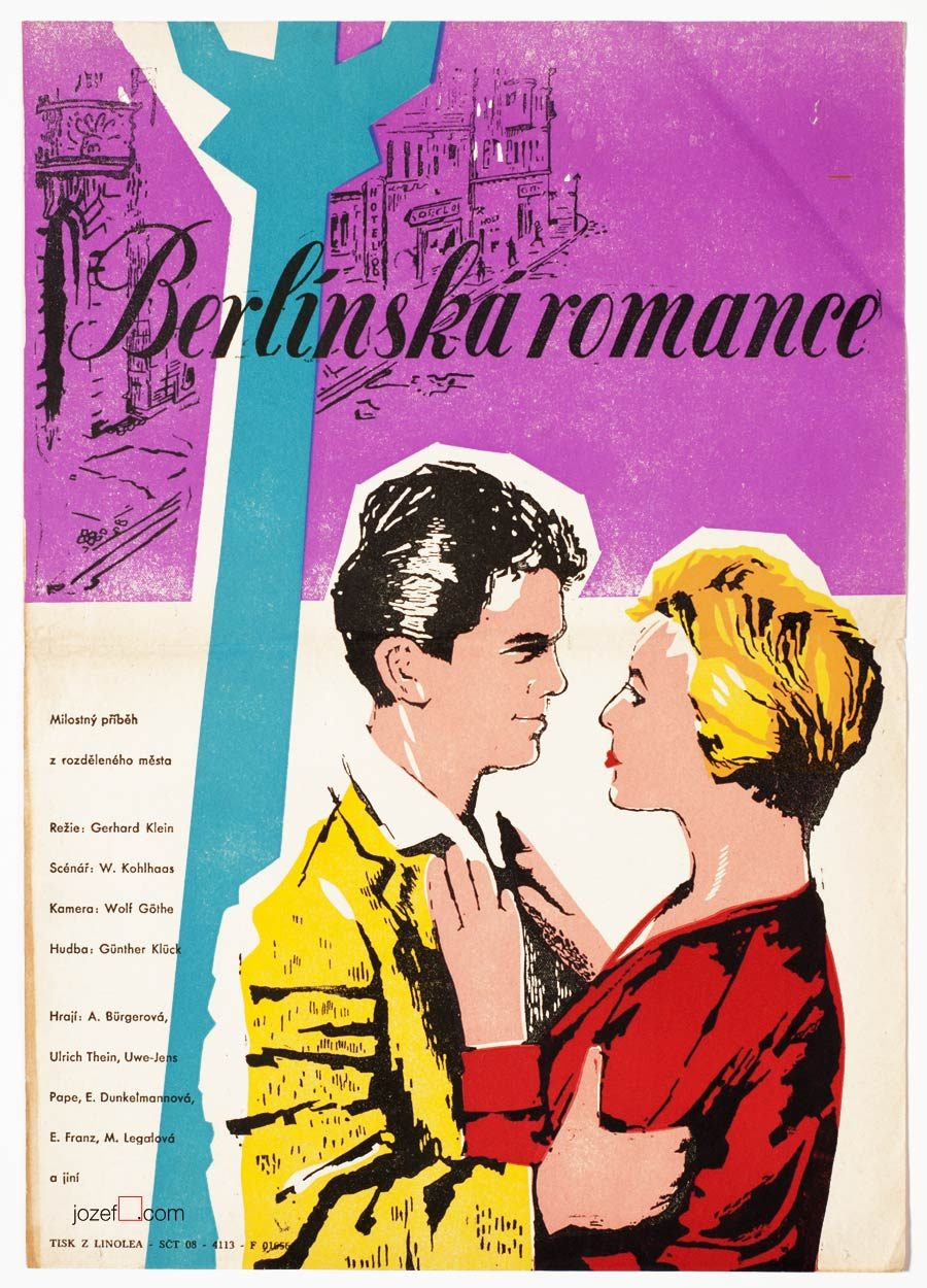 Movie Poster, Berlin Romance, 50s Cinema Art