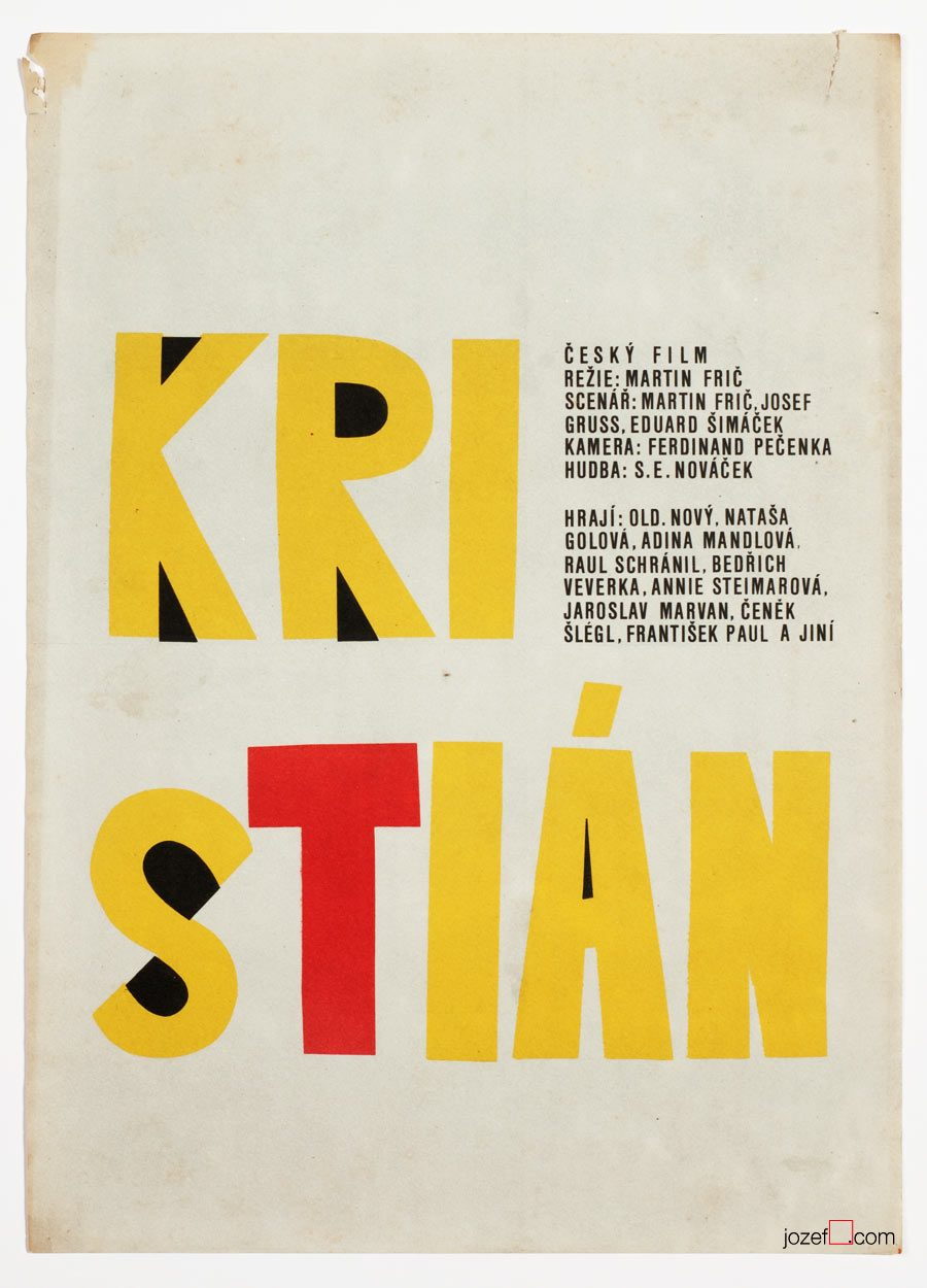 Typography poster, Christian, Vintage movie poster
