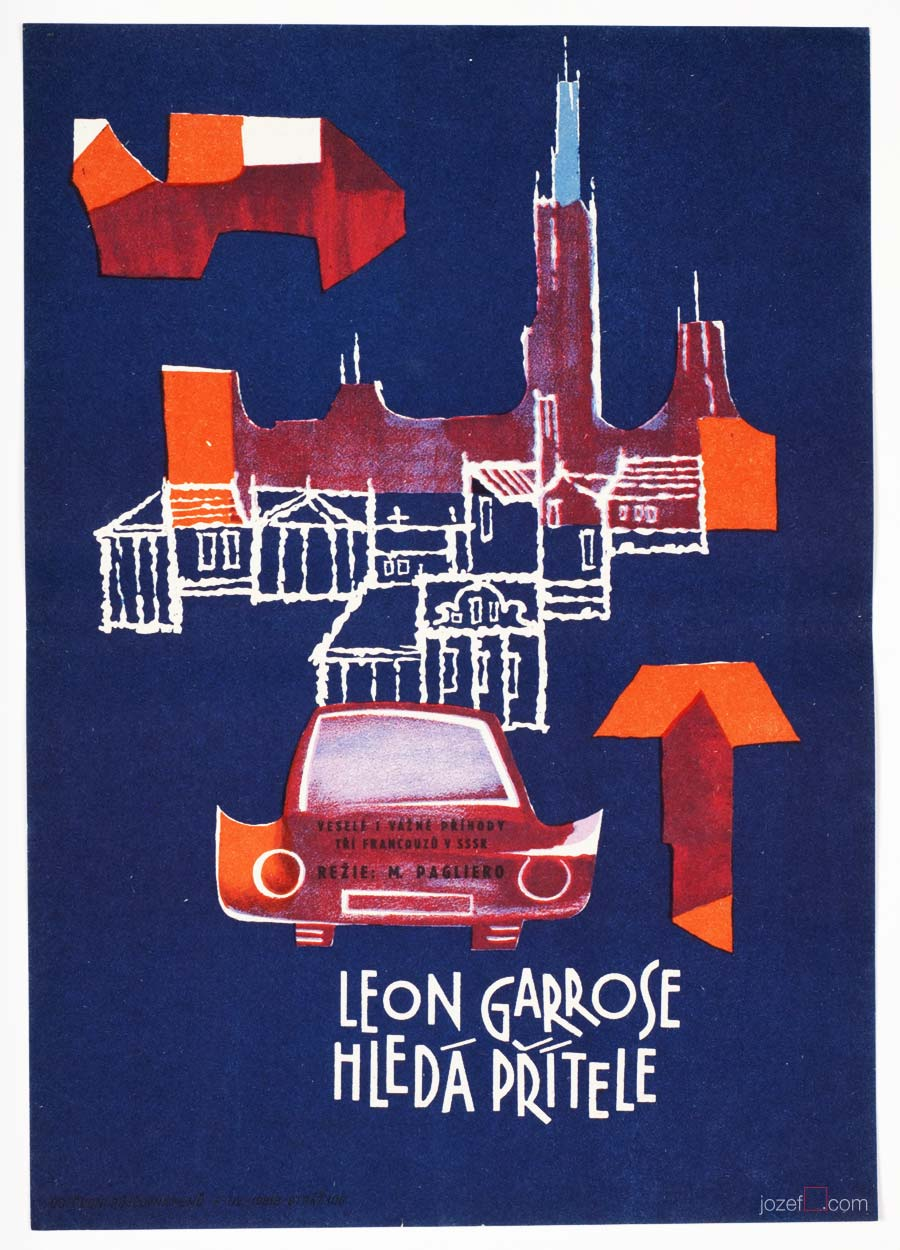 Leon Garros Is Looking for His Friend, 60s Movie Poster