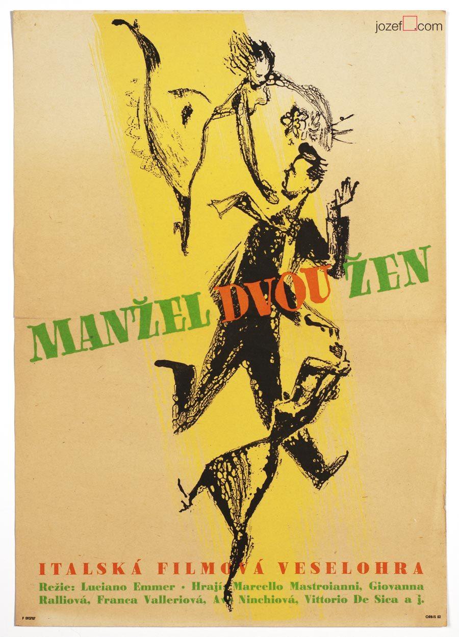 The Bigamist, 50s Movie Poster, Italian Cinema