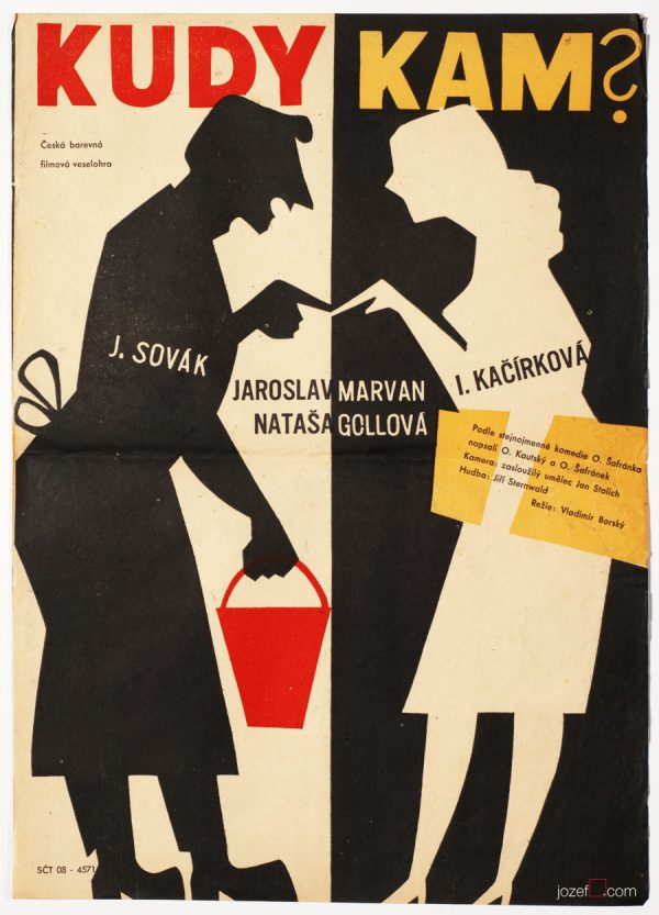 Film Poster, Whence and Where to?, 50s Cinema Art