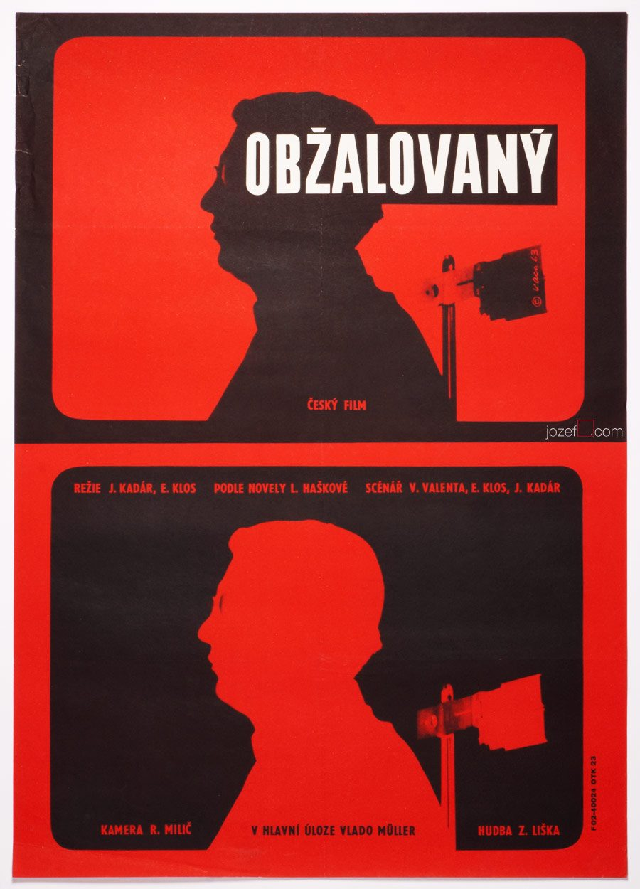 MInimalist Film Poster, Accused, 60s Art Poster