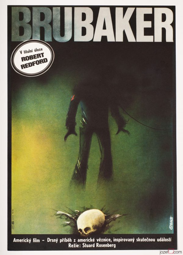 Brubaker / Robert Redford, Movie Poster, Zdeněk Vlach