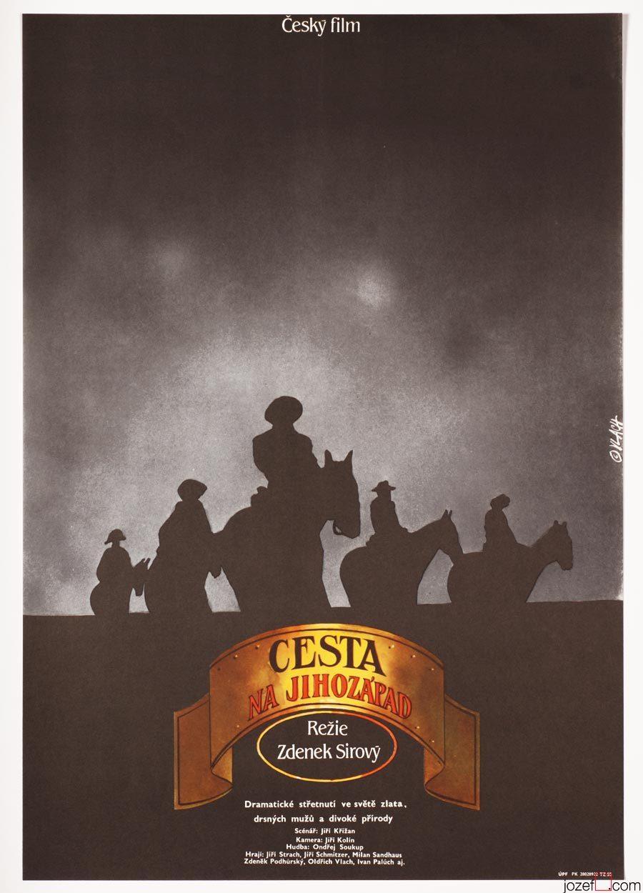 Western Movie Poster, Minimalist Poster