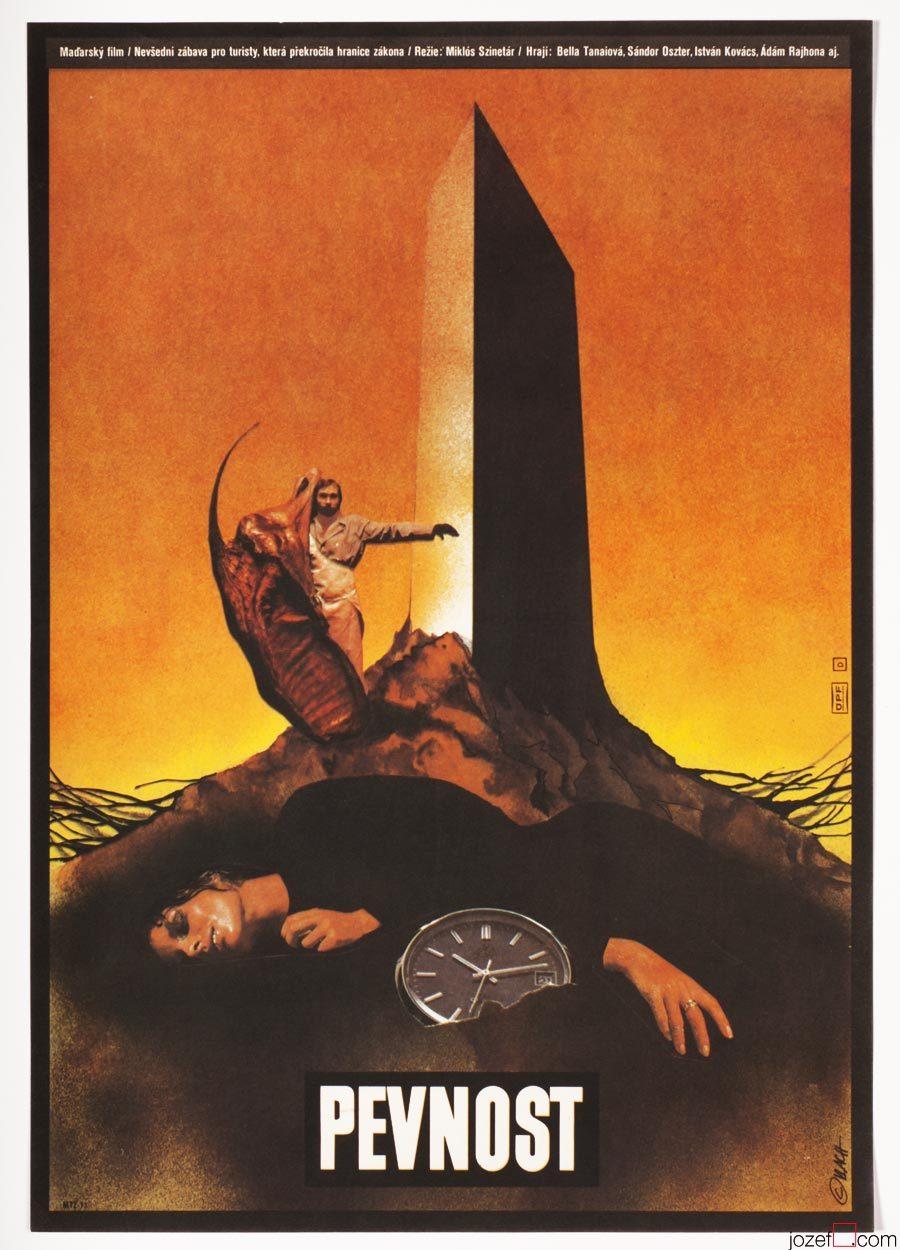 Sci-fi poster, The Fortress, Movie Poster Design, Zdeněk Vlach