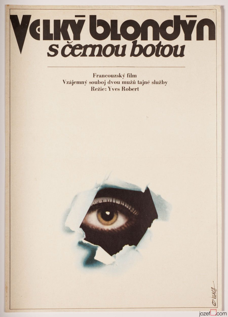 The Tall Blond Man with One Black Shoe, 1970s movie poster