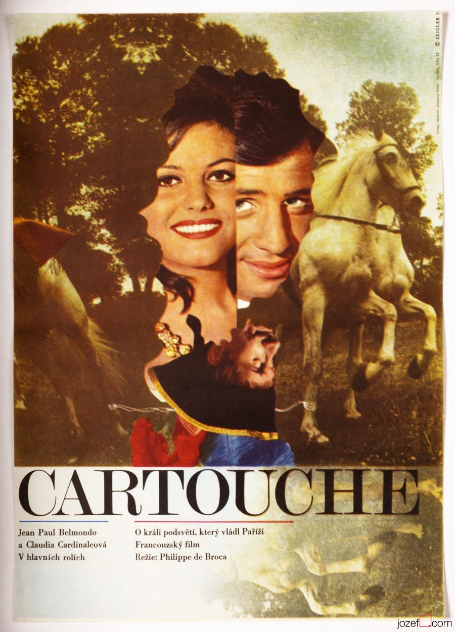 Cartouche film poster, Collage poster, Zdeněk Ziegler