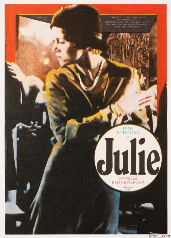 Vintage Movie Poster, Julia / Jane Fonda, 1980s Poster