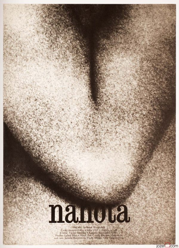 Minimalist Movie Poster, Nudity, 1970s Cinema Art