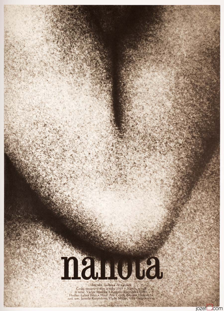 Minimalist Movie Poster - Nudity, 1970s Poster Design