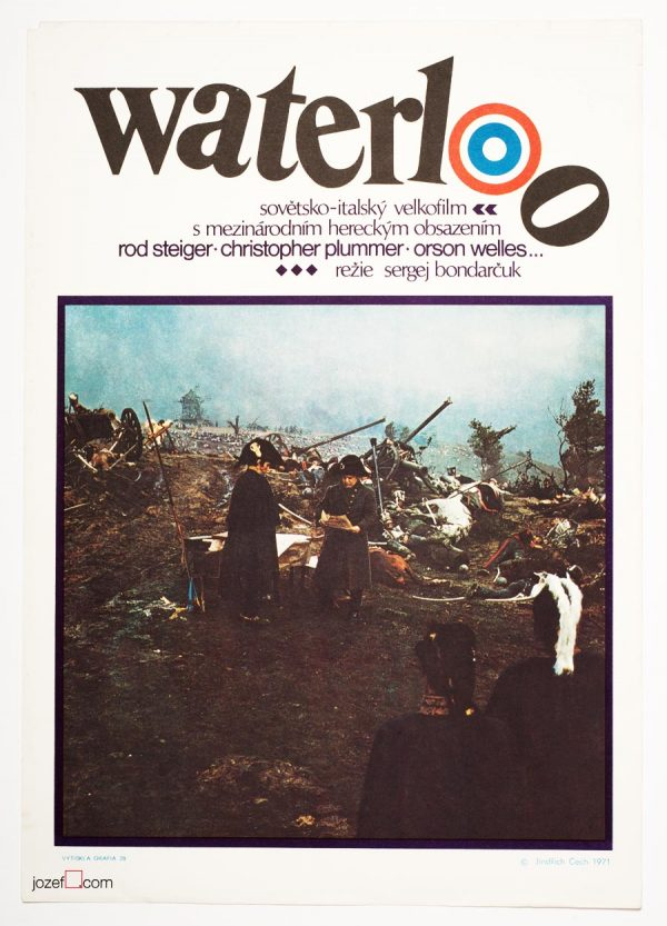Waterloo movie poster, 1970s Poster Art.