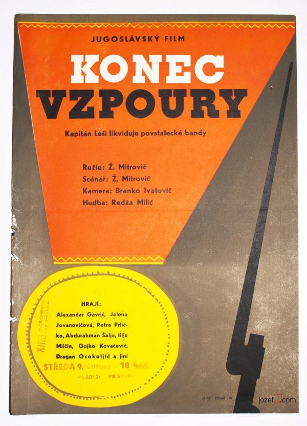 Movie poster, Captain Lechi 2, Yugoslavian Cinema