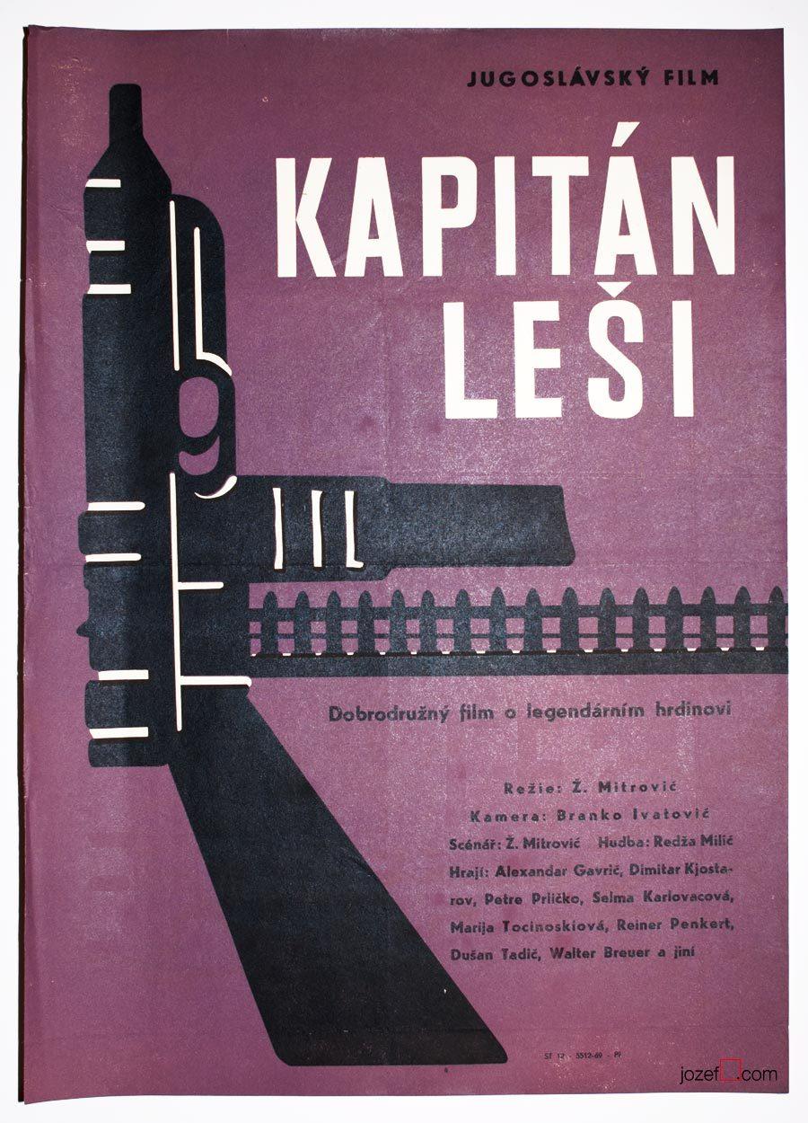 Movie Poster, Captain Lechi, Minimalist Cinema Art