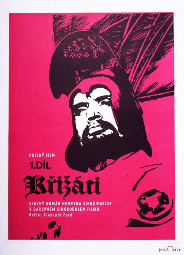 Movie Poster, Knights of the Black Cross, 60s Cinema Art