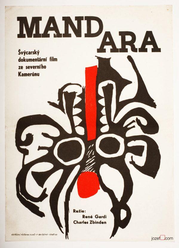 Movie Poster, Mandara, 60s Cinema Art