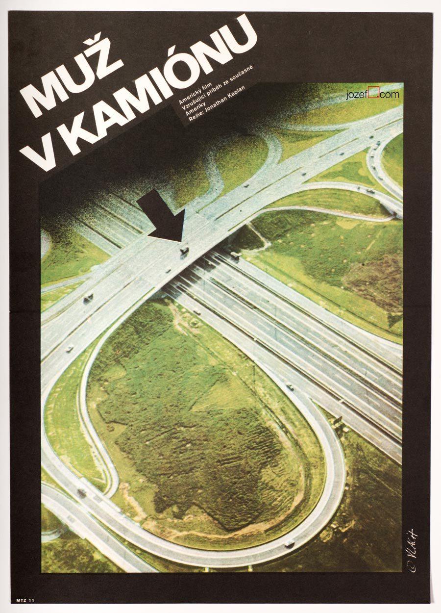Movie Poster, White Line Fever, 1970s Poster Design