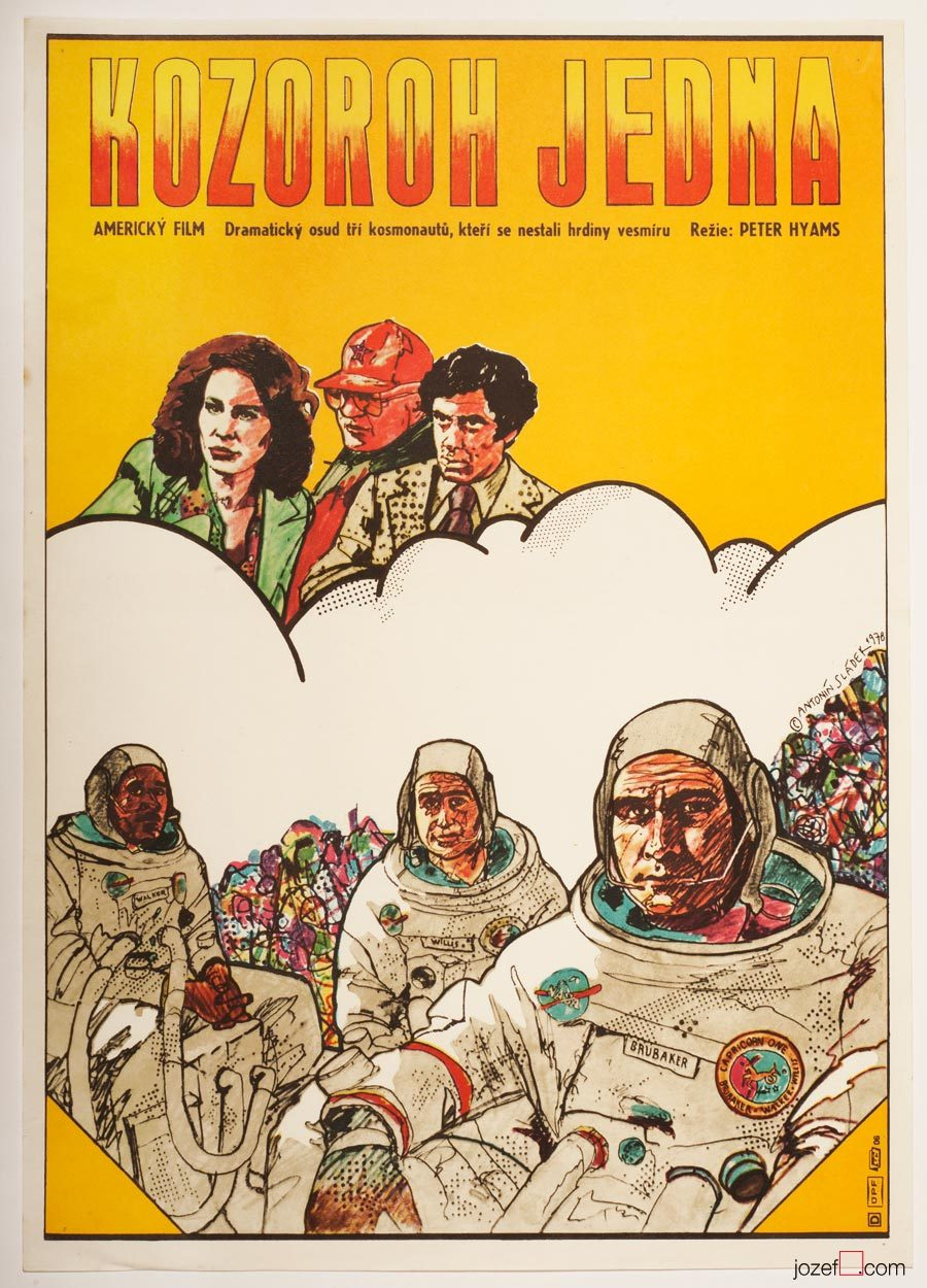 Capricorn One Movie Poster, 1970s sci-fi Poster