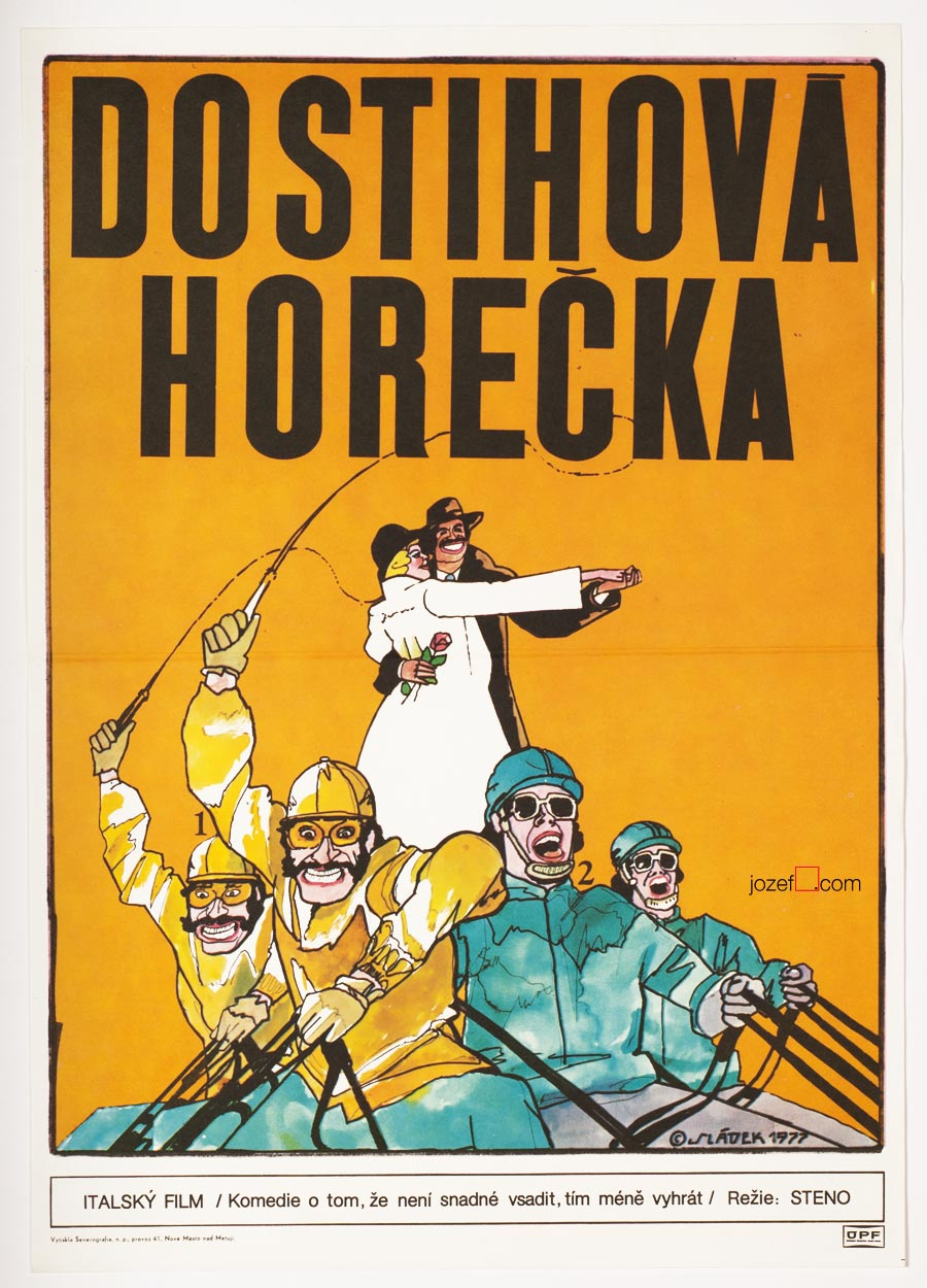 Movie Poster, Horse Fever, 1970s Poster Illustration