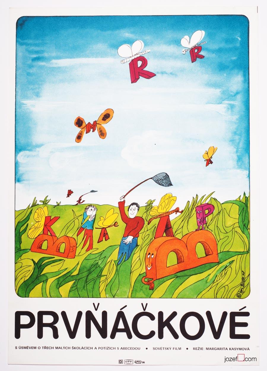 Vintage Kids Poster , 1970s Movie Poster illustration