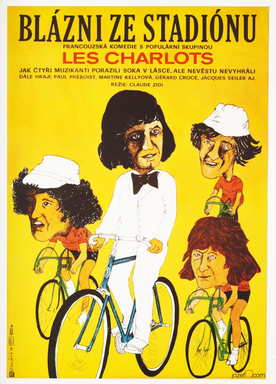 Stadium Nuts, Cycling Poster, 1970s Movie Poster