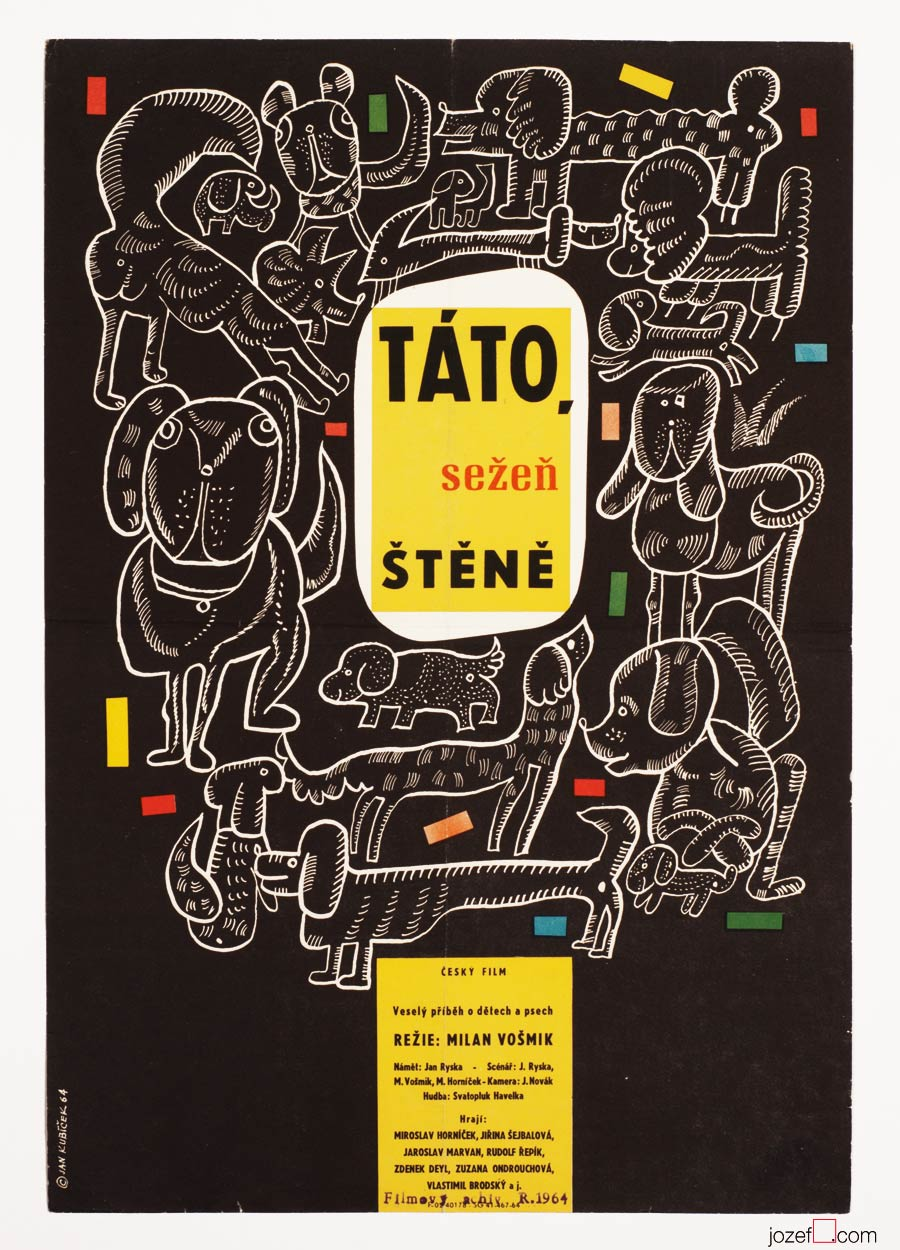 Kids Movie Poster, wonderful 1960s Poster Art, Jan Kubíček