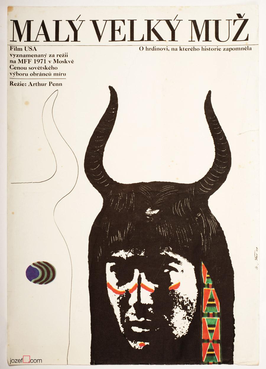 Little Big Man movie poster design, 1970s Western Poster