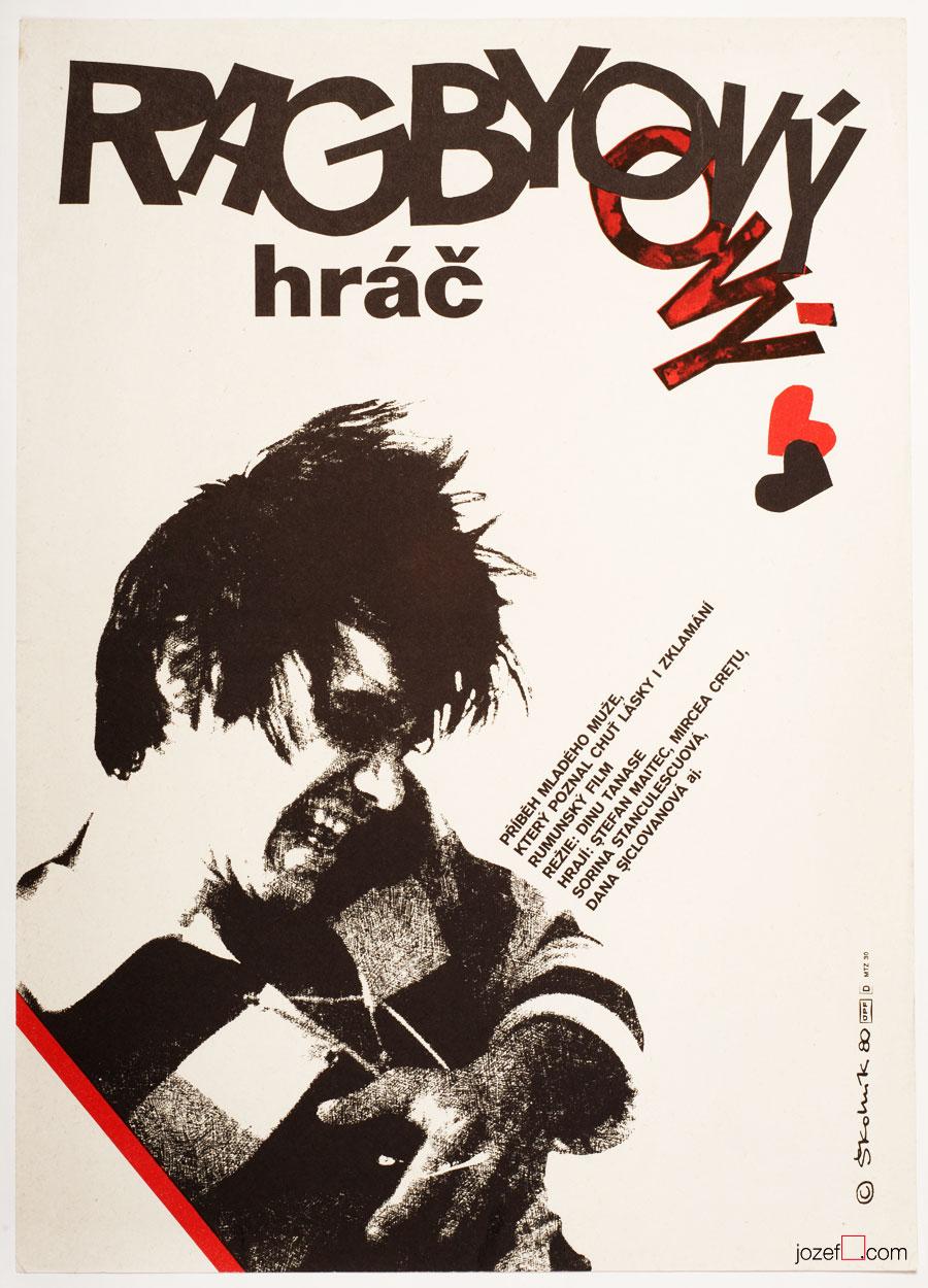 Vintage Movie Poster, Scrum Half, 1980s Poster