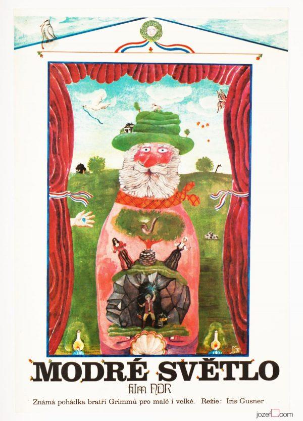 Kids Movie Poster, The Blue Light, 1970s Poster Design
