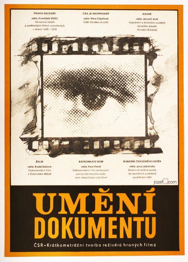 Documentary Poster, Vintage 1980s Cinema Art