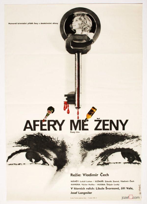 Movie Poster, My Wife's Affair, 1970s Cinema Art