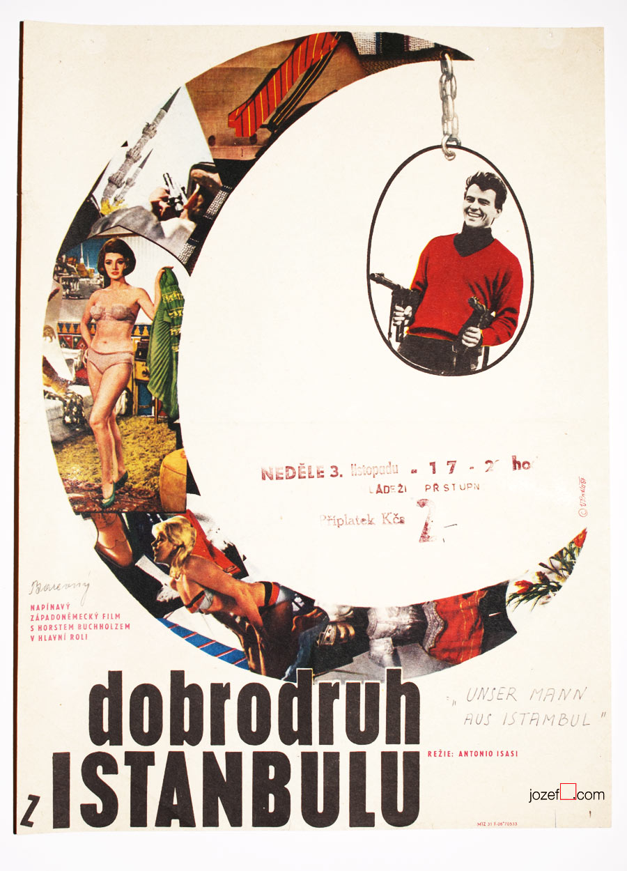 Film poster, That Man in Istanbul, Excellent Poster Art