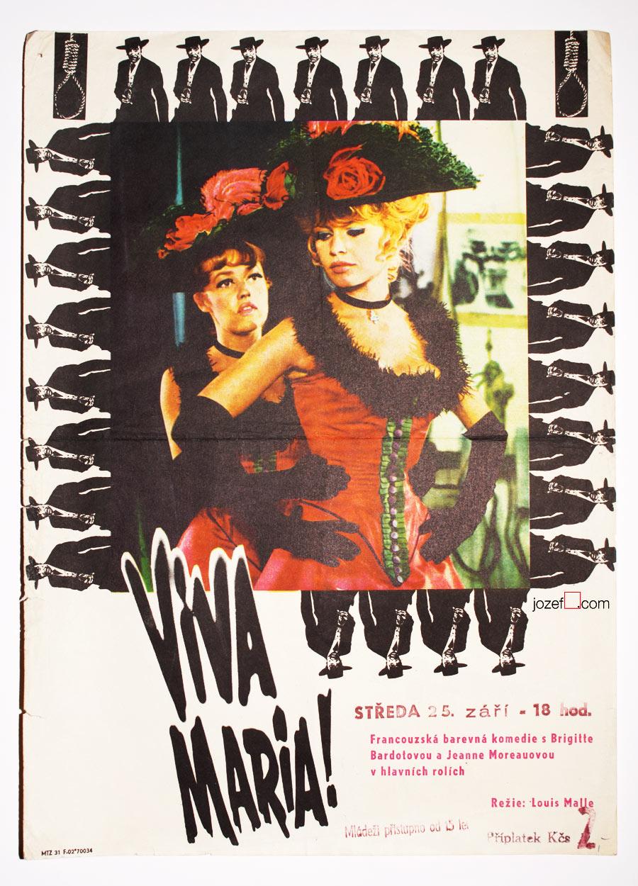 FIlm poster, Viva Maria, Excellent 1960s poster design