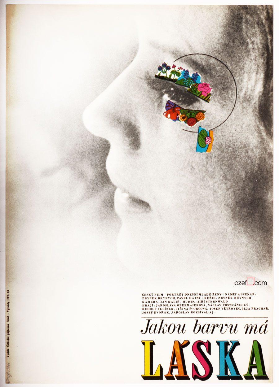 Minimalist Movie Poster, 1970s Poster Art, Zdeněk Ziegler