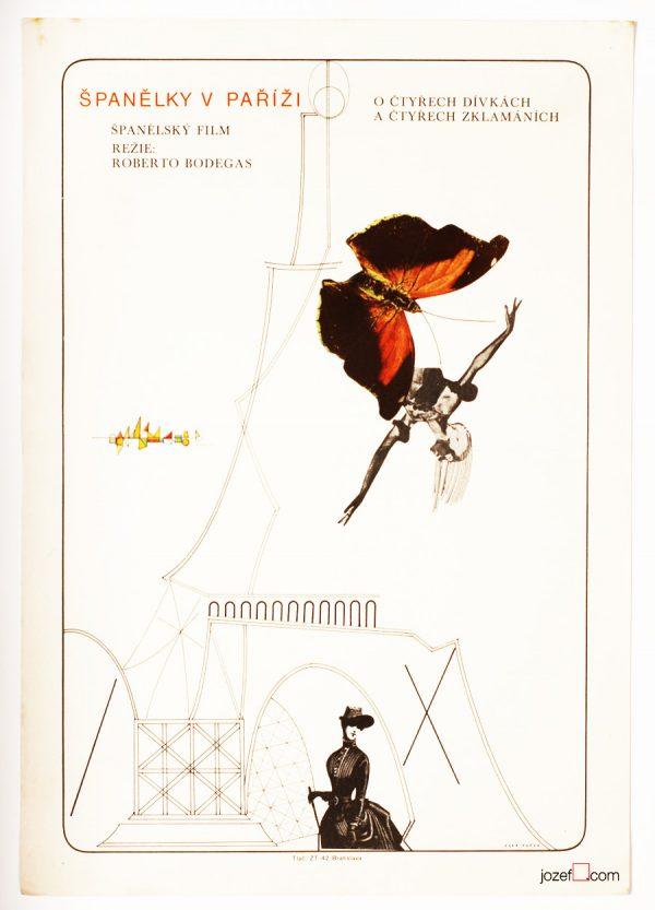 Movie poster, Spaniards in Paris, Collage poster