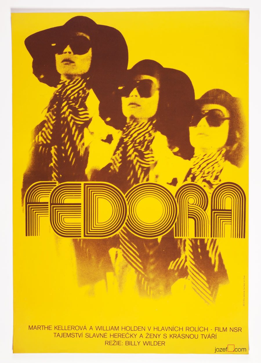 80s poster design - Movie Poster Fedora 80s Poster