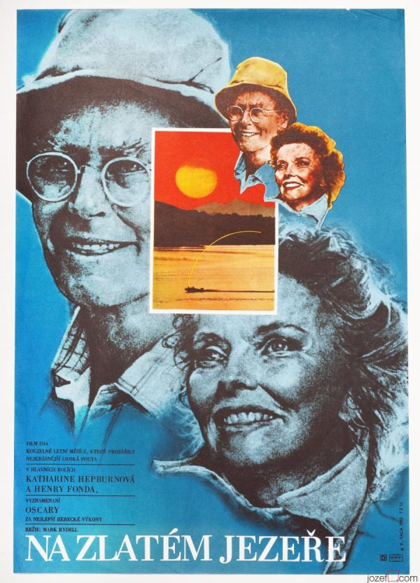 Golden Pond movie poster, 80s Karel Vaca