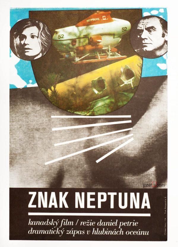 The Neptune Factor poster, 1970s Poster Art, Sci-fi Poster