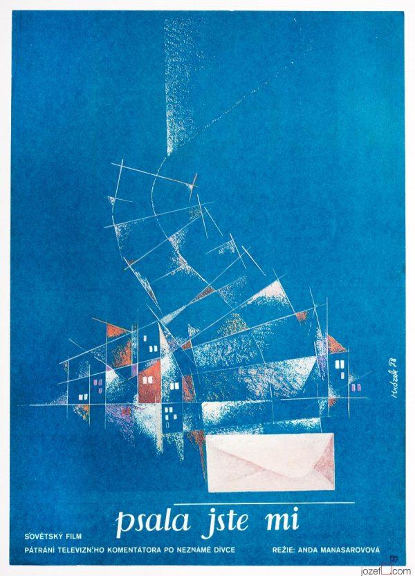 Minimalist poster, 1970s movie poster