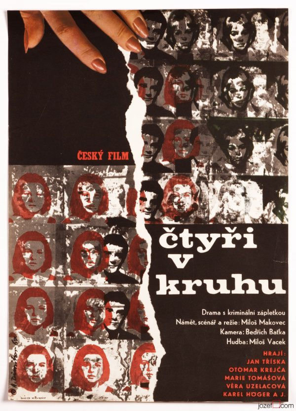 Film poster, Four in a Circle, Collage poster