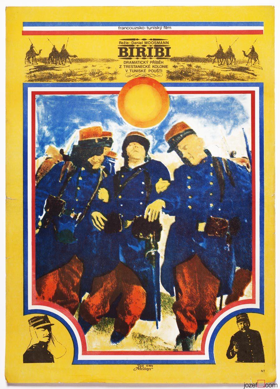 Biribi movie poster, 1970s poster design