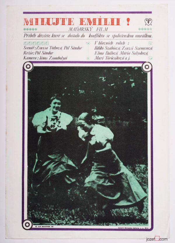Minimalist poster, Love Emilia, 1970s Poster
