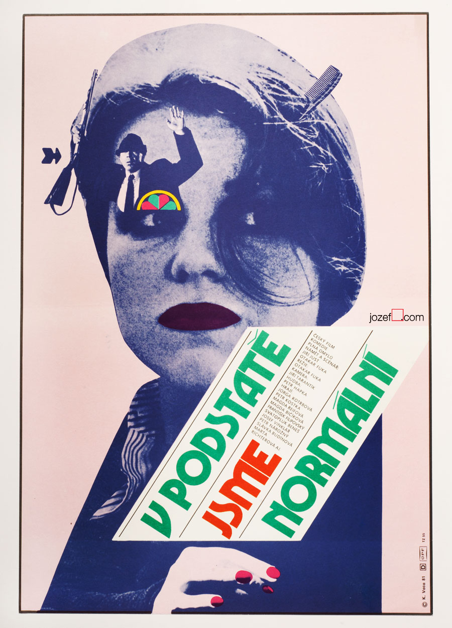 Collage Poster, Karel Vaca, 1970s Design