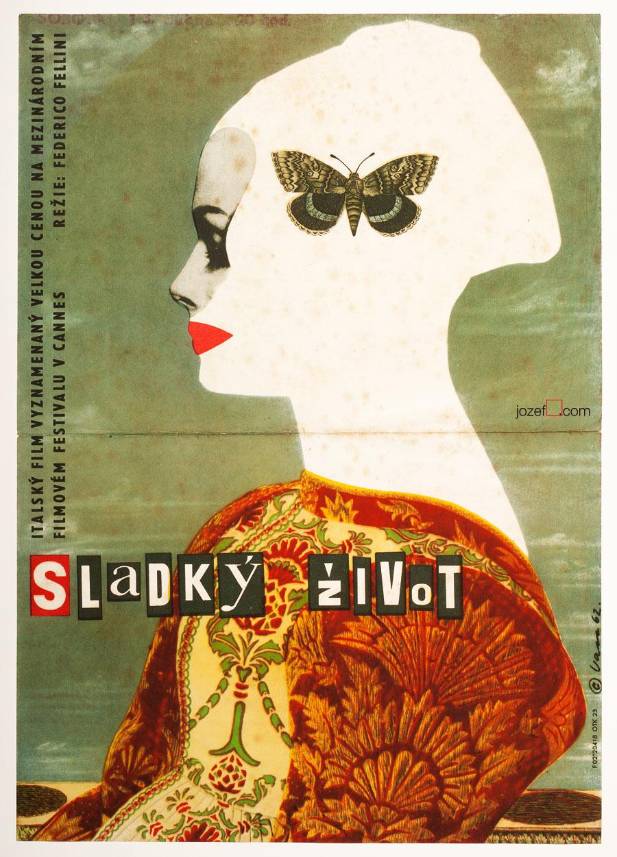 Dolce Vita, 1960s Movie Poster, Karel Vaca