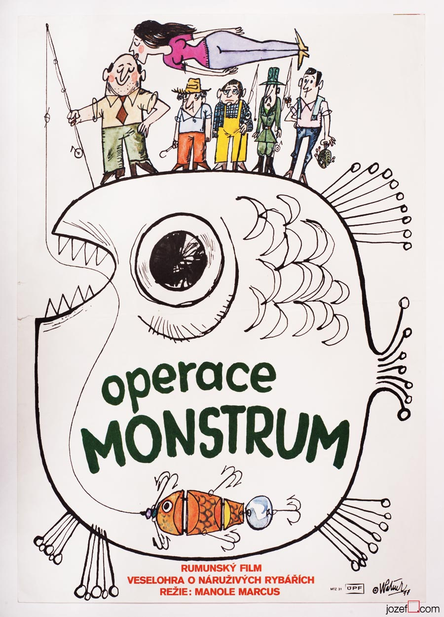 Operation Monster, 1970s movie poster