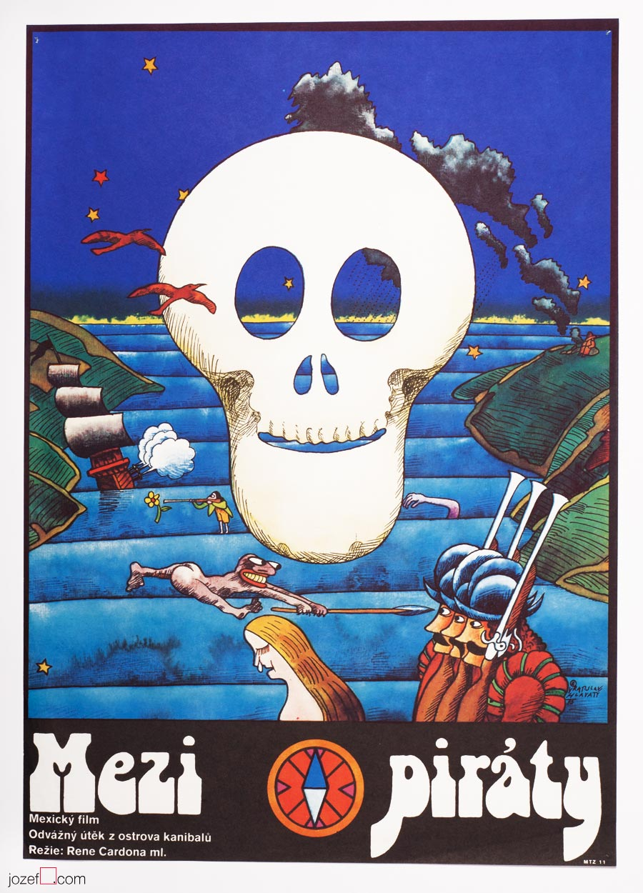 A Twelve Year Old Pirate, 1970s Movie Poster