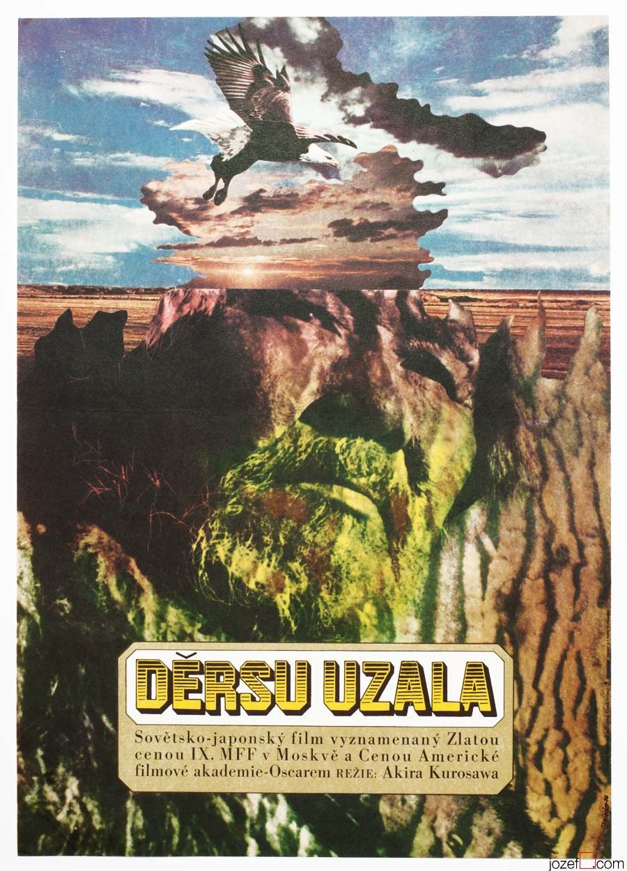 Dersu Uzala movie poster, Akira Kurosawa