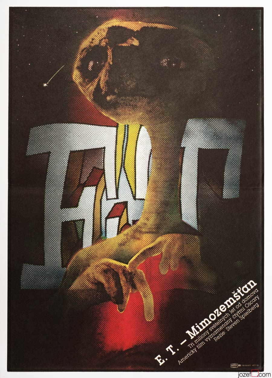 E.T. The Extra Terrestrial movie poster, Sci-fi poster