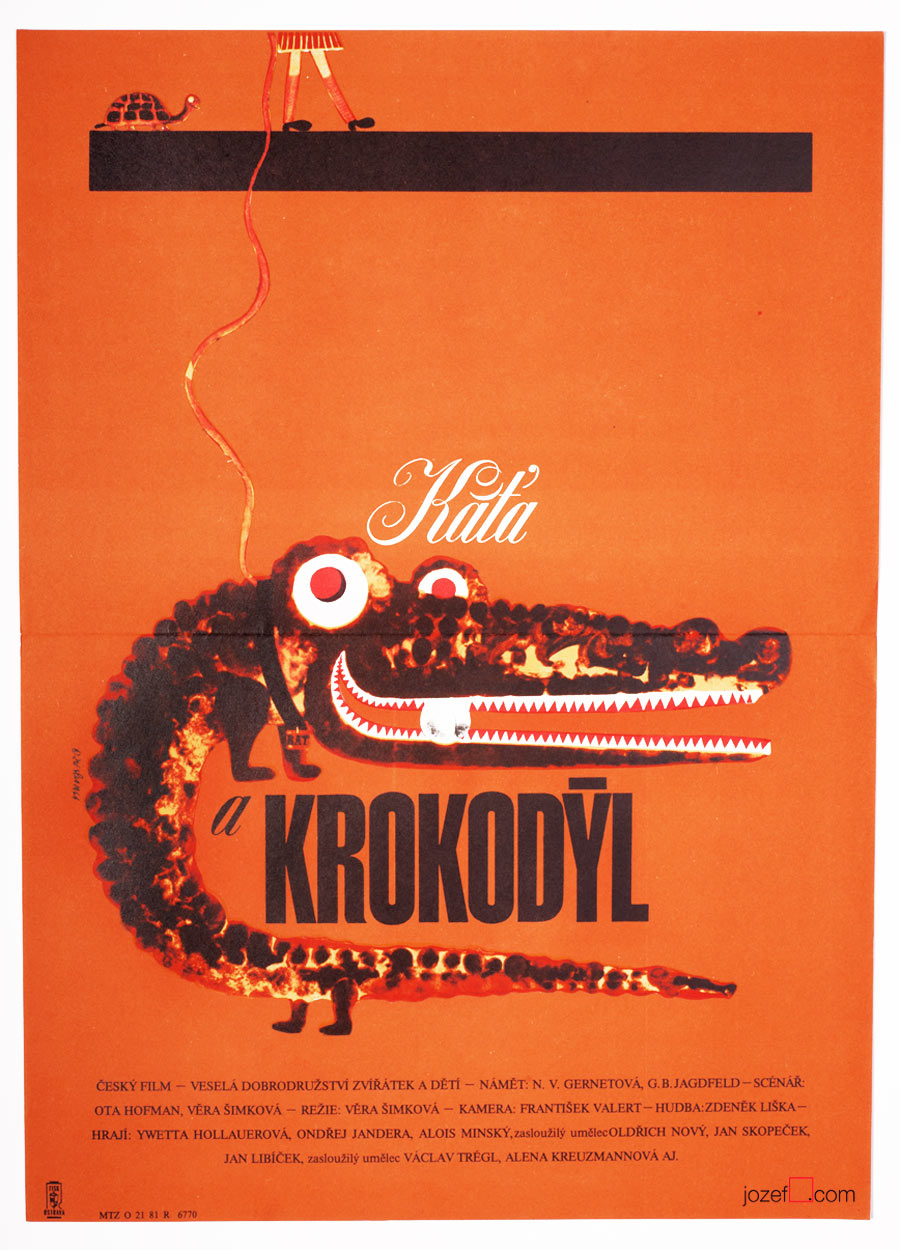 Kids Poster, Kate and the Crocodile, 1960s Poster
