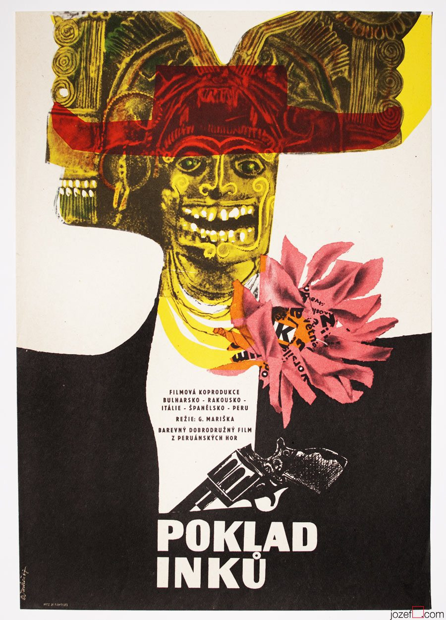 Movie Poster, Legacy of the Incas, 1960s Poster Art
