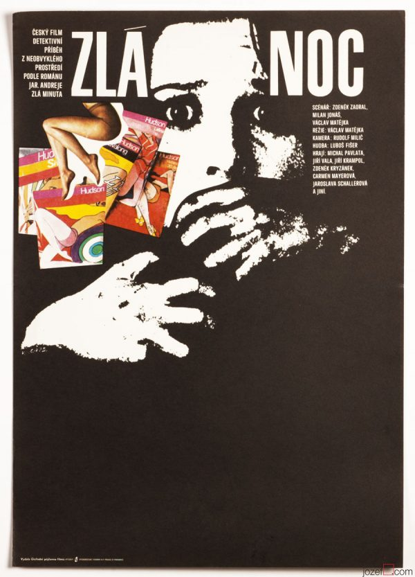 Movie Poster, Bad Night, 70s Karel Vaca